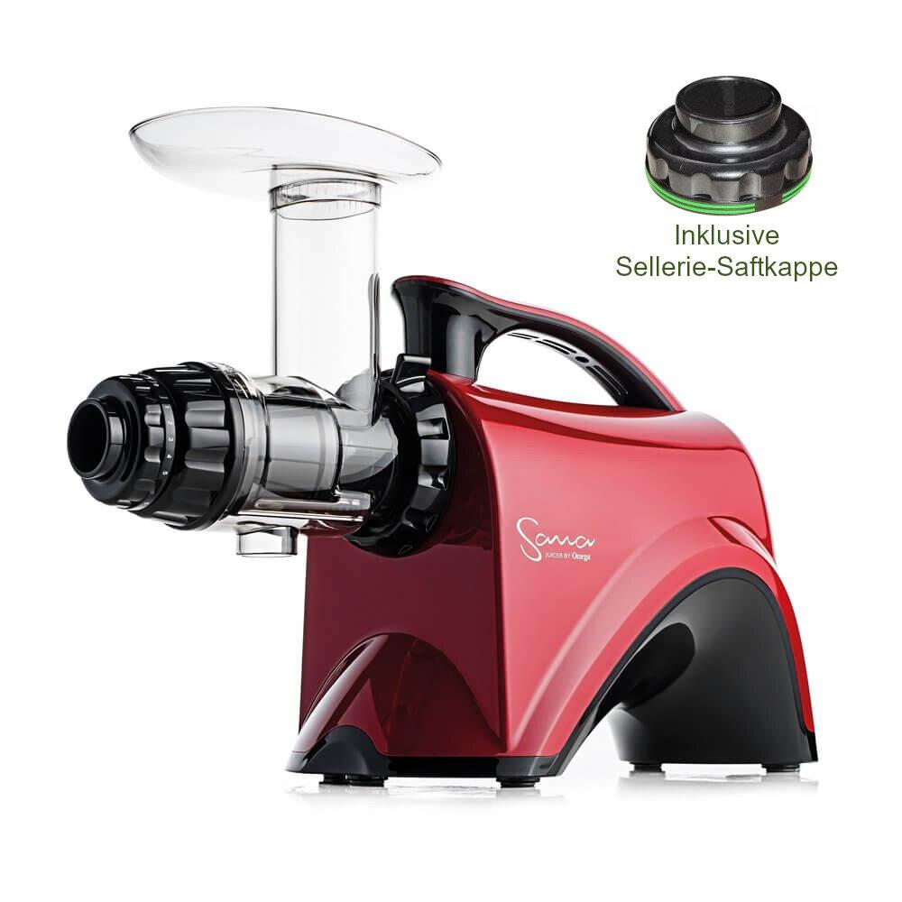 Sana Products Sana Juicer by Omega EUJ 606 Entsafter rot + Geschenk